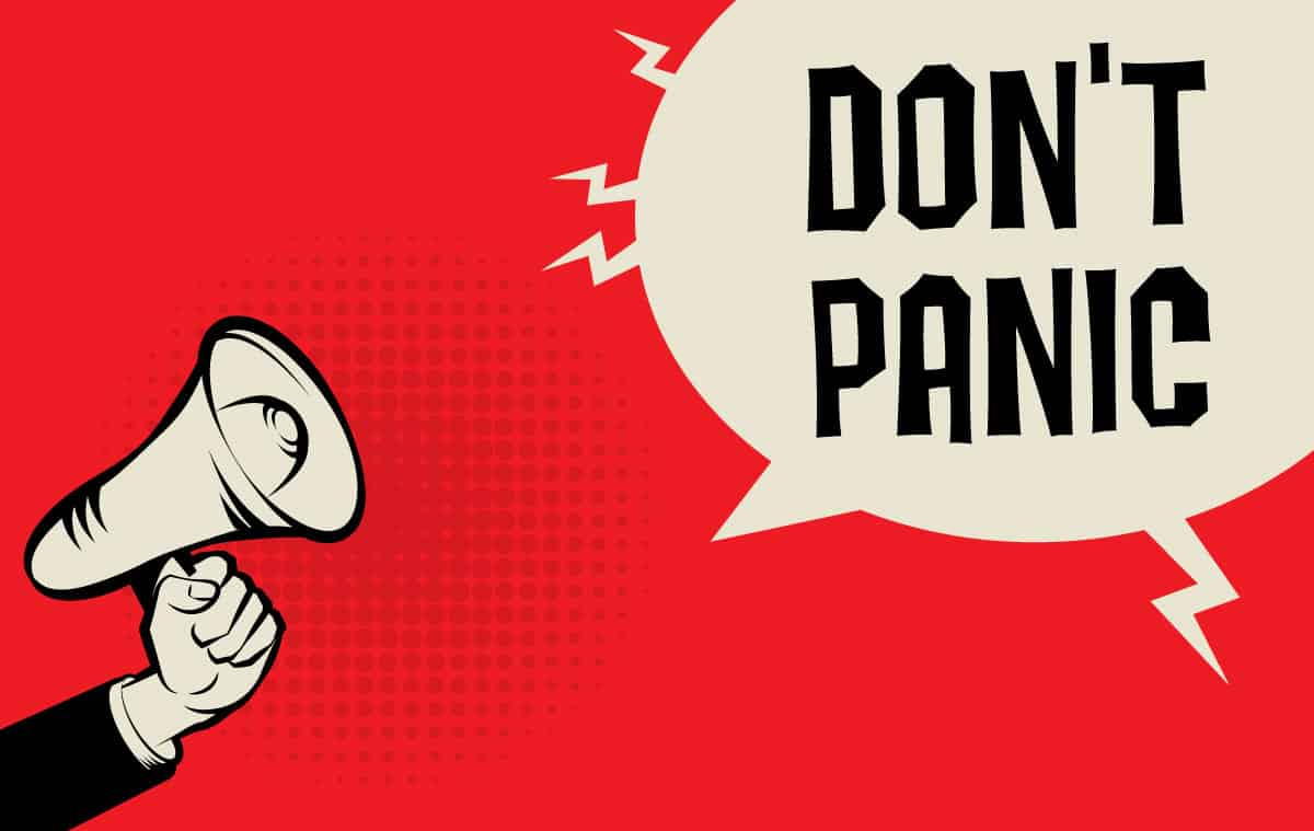 Don't Panic, no stress